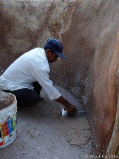 Colado del firme de cisterna del baño compostero
