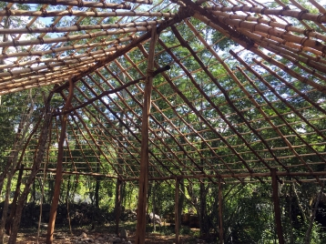 Estructura del techo terminada